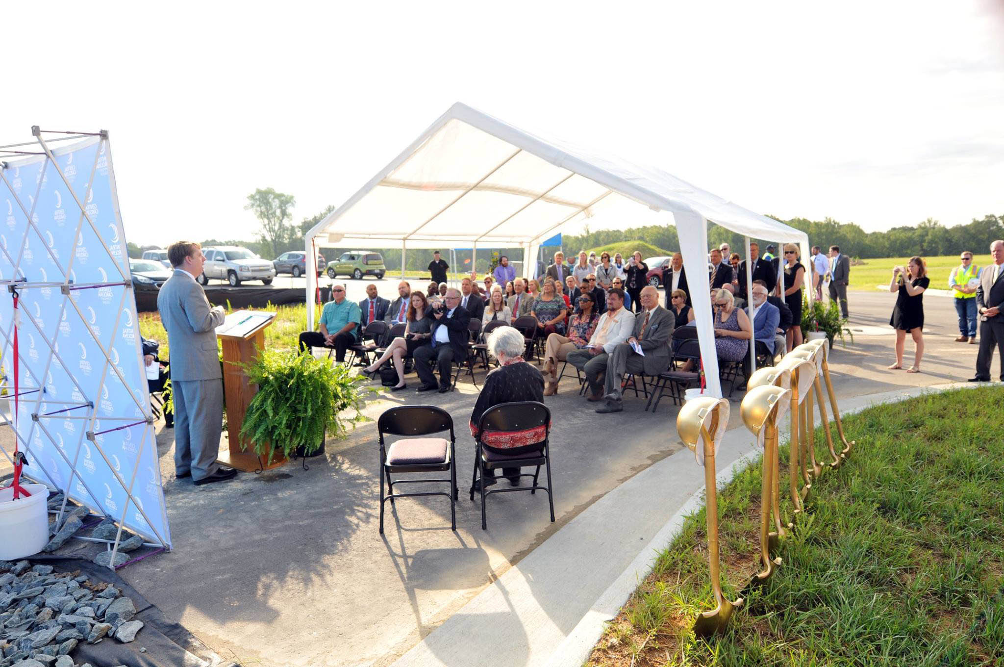 Click to enlarge,  Central Carolina Community College held a groundbreaking ceremony on Aug. 22 for the new CCCC Chatham Health Sciences Center.