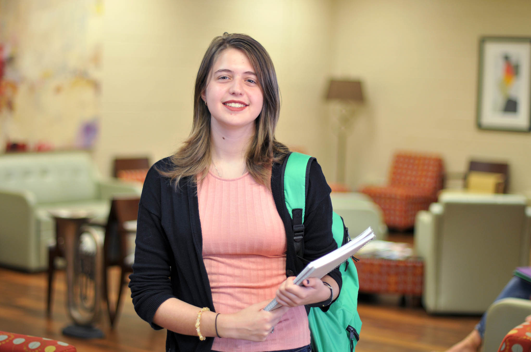 Click to enlarge,  Amber England is among the students participating in the Lee County Promise program. Lee County Promise is a local initiative supported through county and private funding that guarantees up to two years of free in-state college tuition to public school graduates who meet eligibility standards.