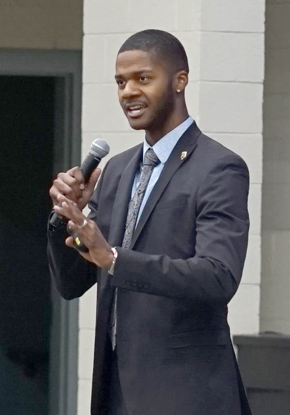 Click to enlarge,  Motivational speaker Donovan Livingston spoke at the annual NC TRiO Student Initiatives Conference on March 2 at the Dennis A. Wicker Civic & Conference Center in Sanford.
