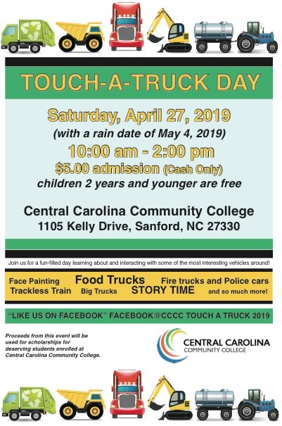CCCC will host Touch-A-Truck Day