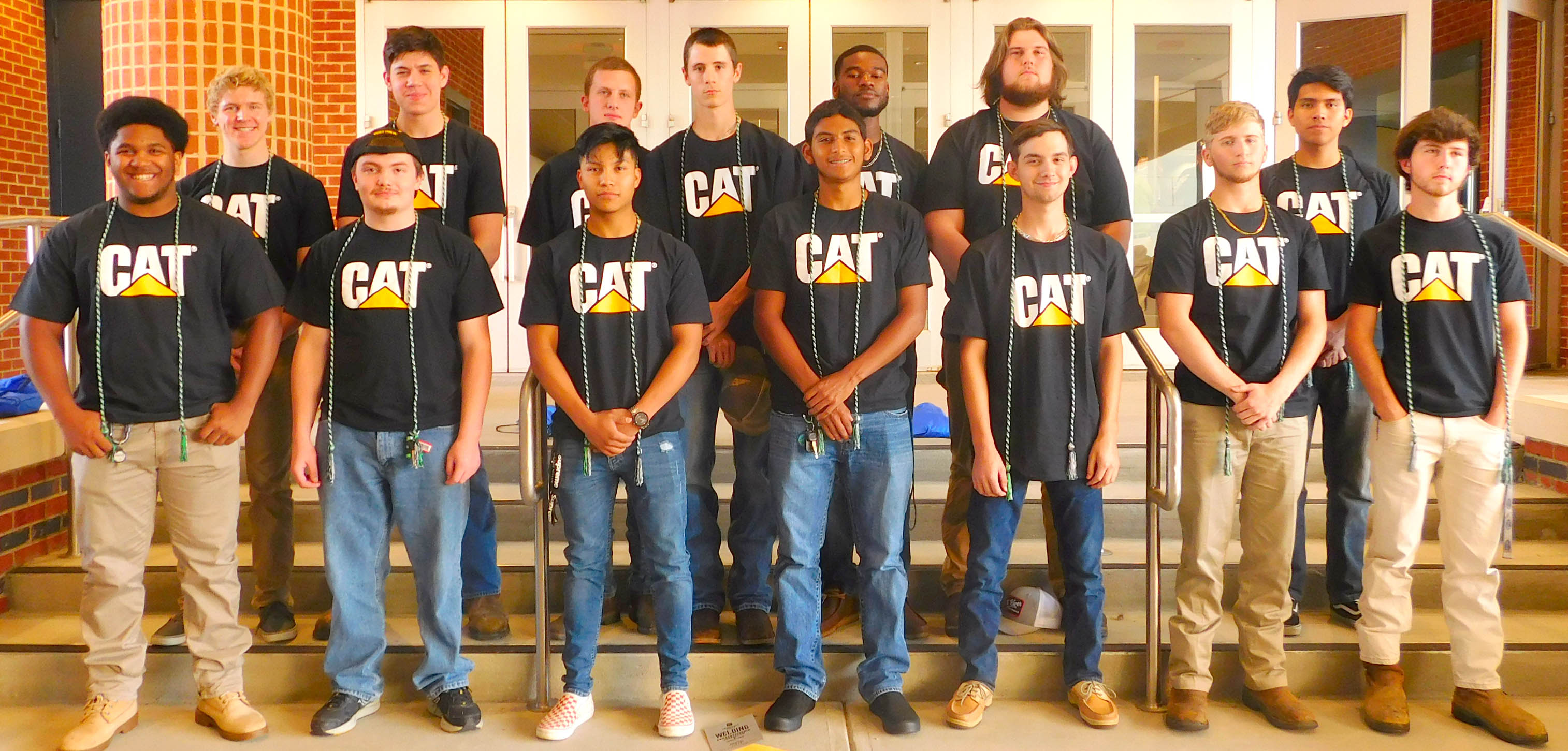 Click to enlarge,  The newest graduates of the Caterpillar Youth Apprenticeship Program.