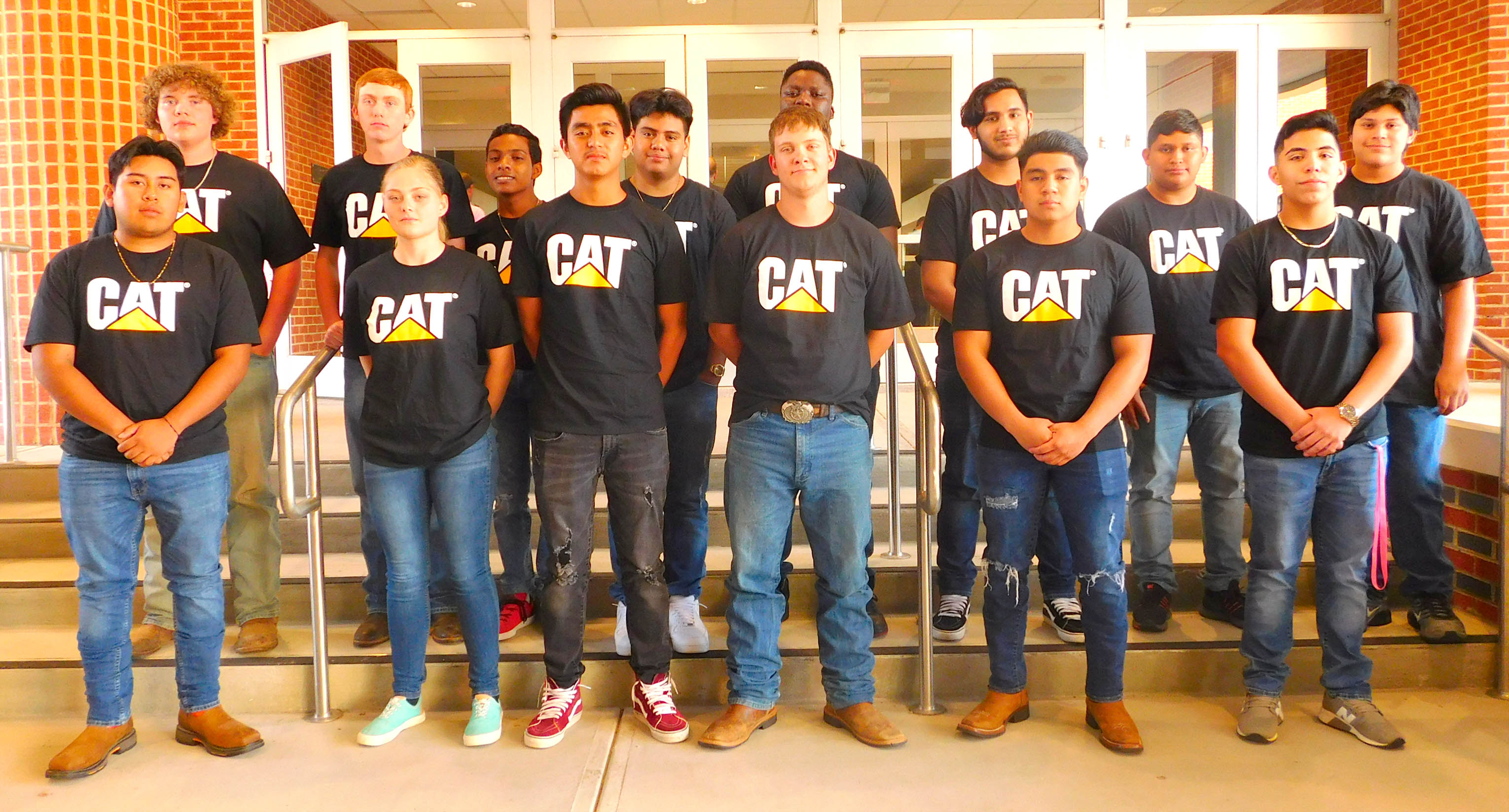 Click to enlarge,  The newest inductees of the Caterpillar Youth Apprenticeship Program.