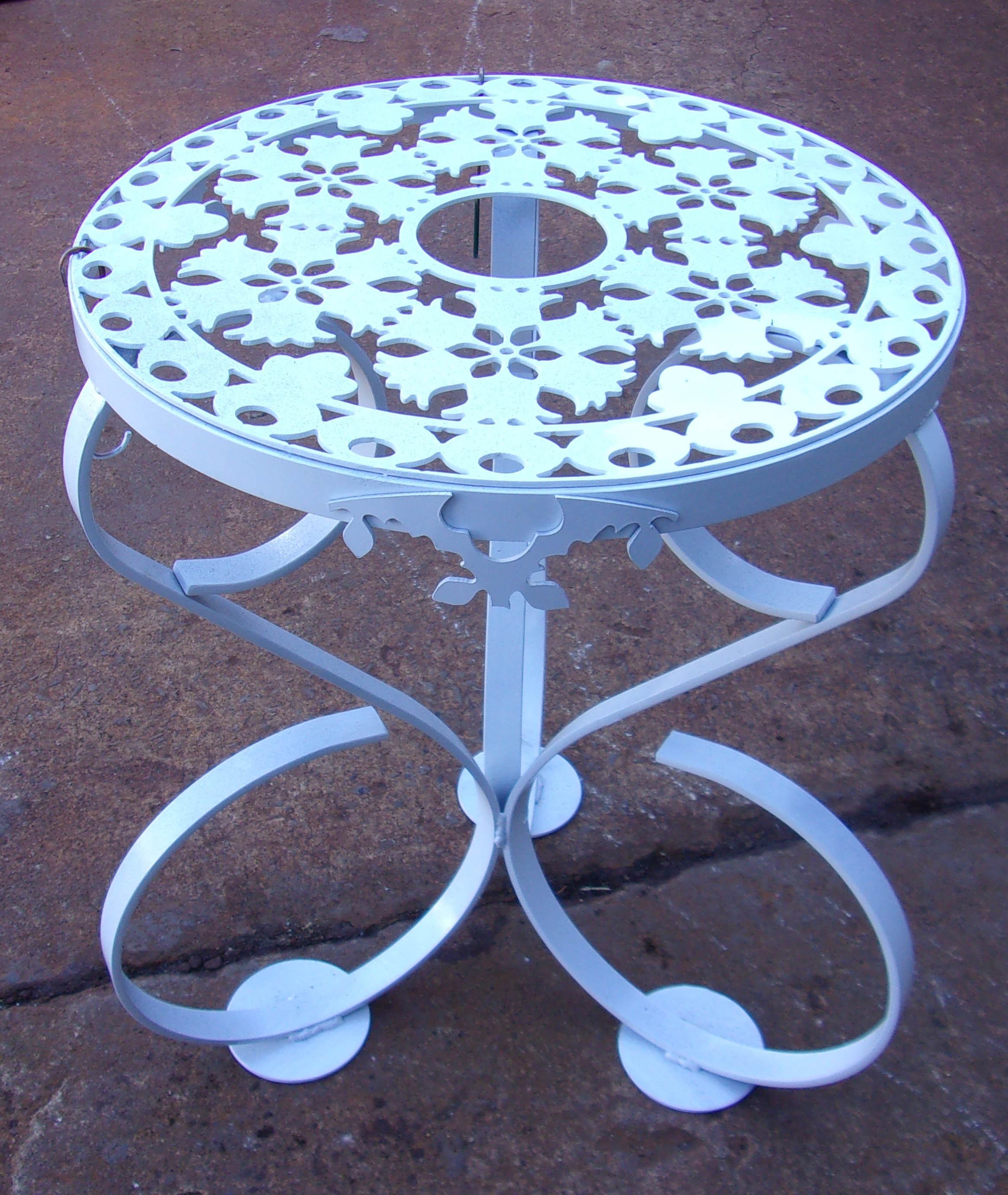 Click to enlarge,  This decorative table will be among the items up for bid at the Central Carolina Community College Foundation's 19th Annual Furniture Auction Saturday, June 1, in the Multipurpose Room of the Miriello Building on the college's Harnett County Campus, 1075 E. Cornelius Harnett Blvd. Viewing and registration starts at 9 a.m. and bidding at 10 a.m. For more information about the CCCC Foundation Furniture Auction, call 910-893-9101 or go online to www.cccc.edu/auction to see a photo gallery of the auction pieces.