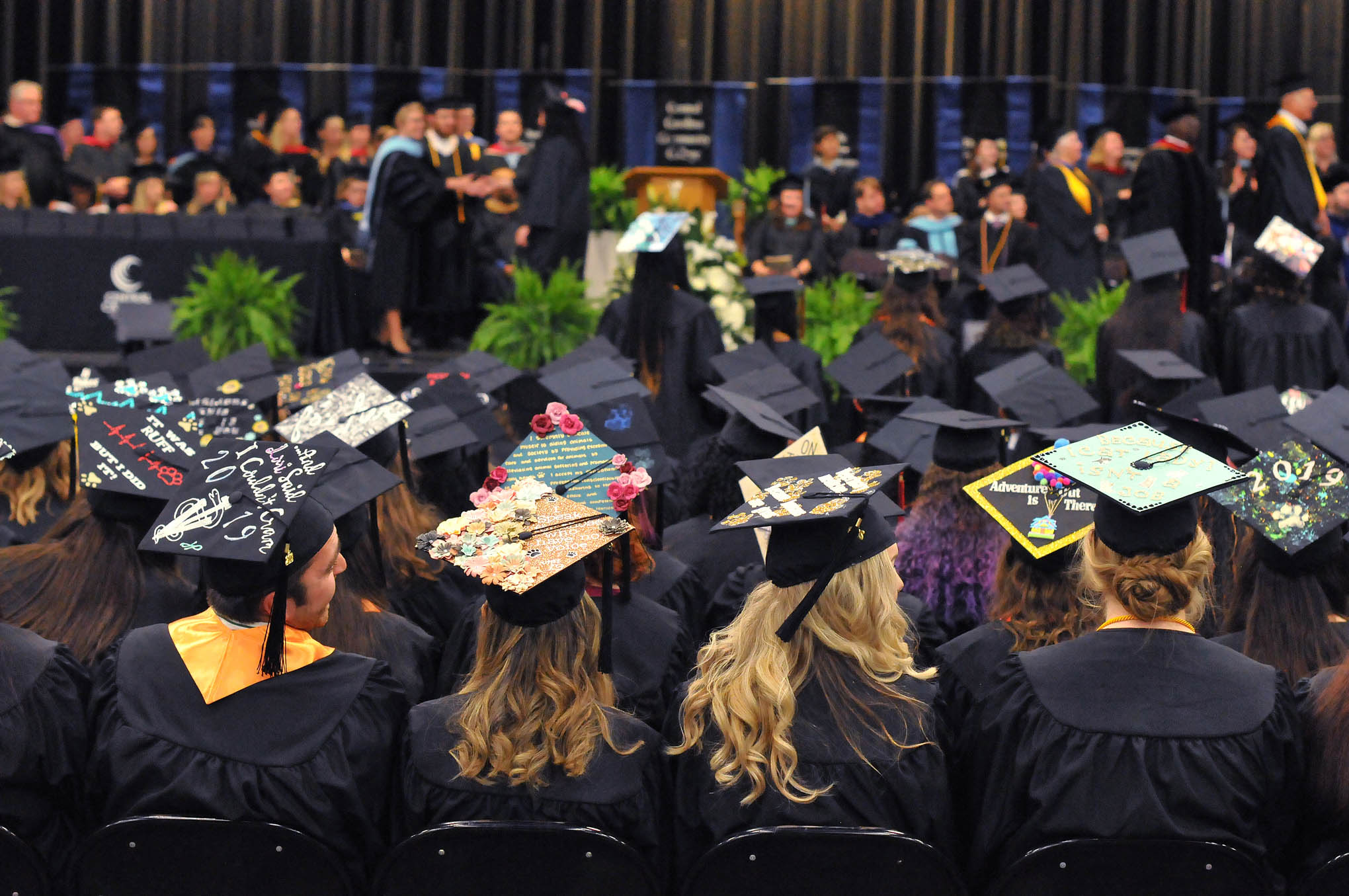 Click to enlarge,  Central Carolina Community College observed its 56th Commencement Exercises on May 13 at the Dennis A. Wicker Civic & Conference Center in Sanford.