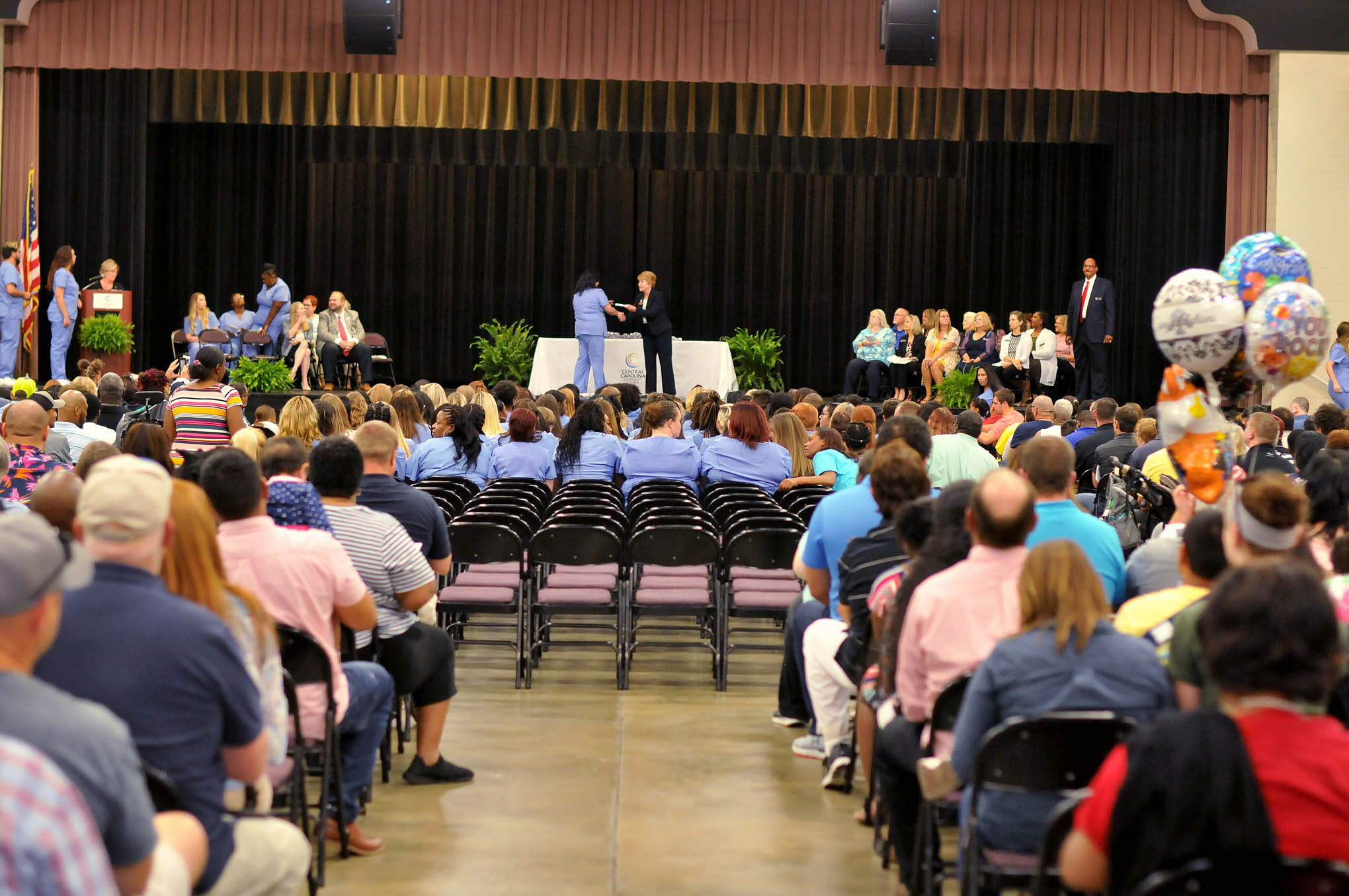 Click to enlarge,  The Central Carolina Community College Continuing Education Medical Programs graduation was held June 13 at the Dennis A. Wicker Civic & Conference Center in Sanford.