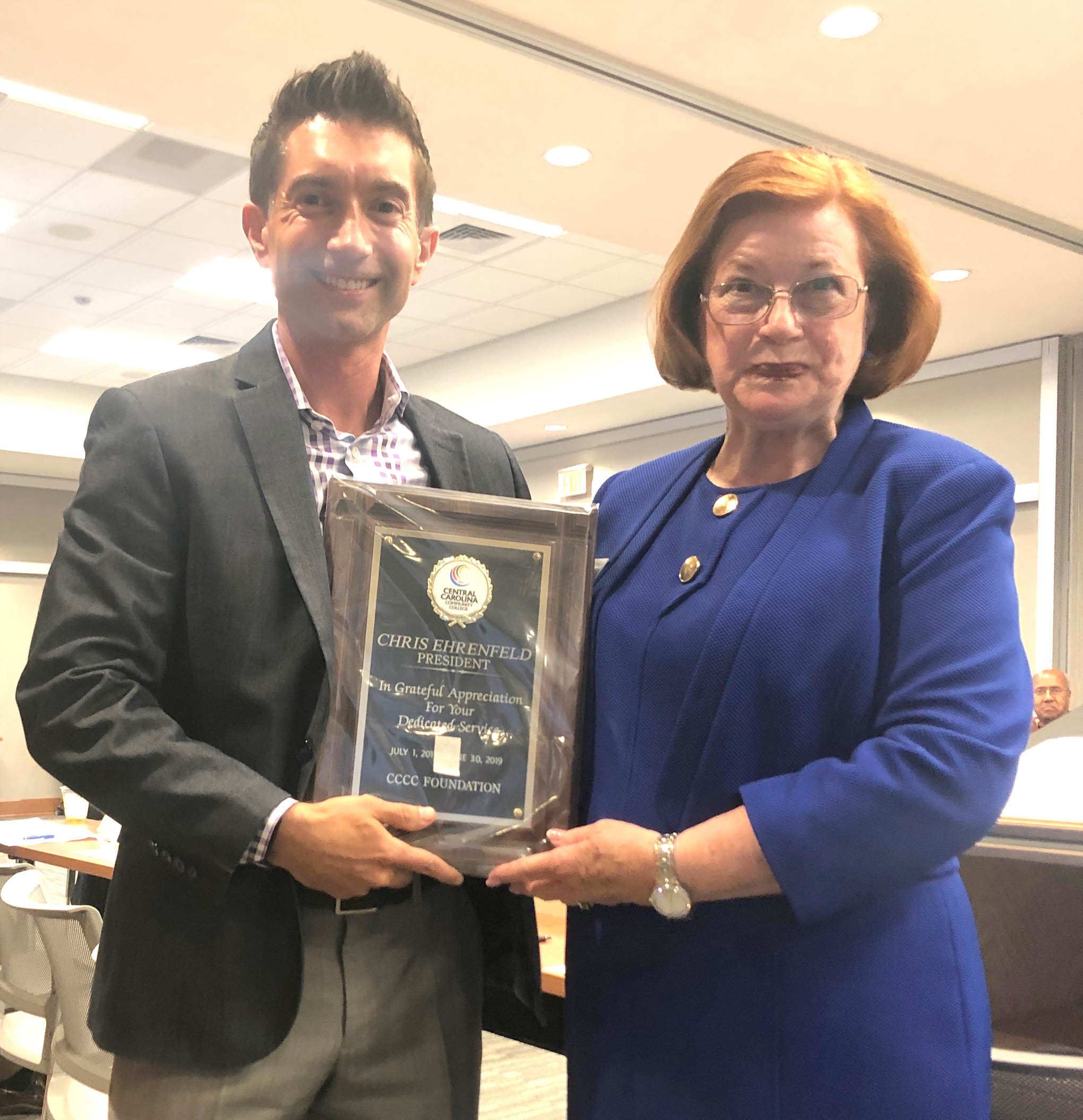 CCCC Foundation recognizes Chris Ehrenfeld