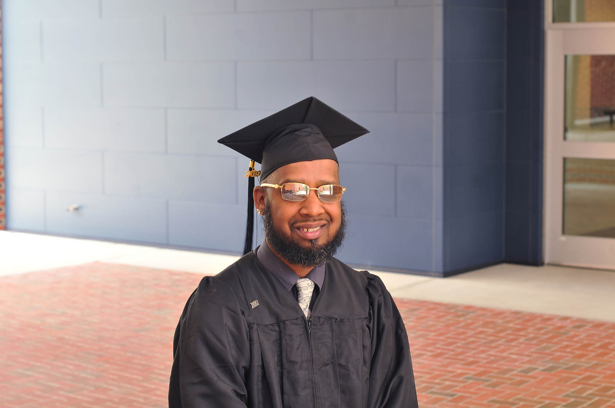 Click to enlarge,  Bradley Baker received a Finish Line Grant as he worked to complete his Certificate in Audio/Radio Production and Performance at Central Carolina Community College.