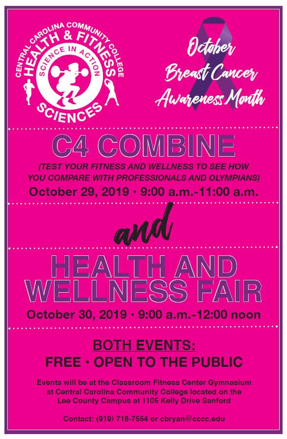 Read the full story, CCCC HFS students will host Health and Wellness Fair and C4 Combine to benefit the public