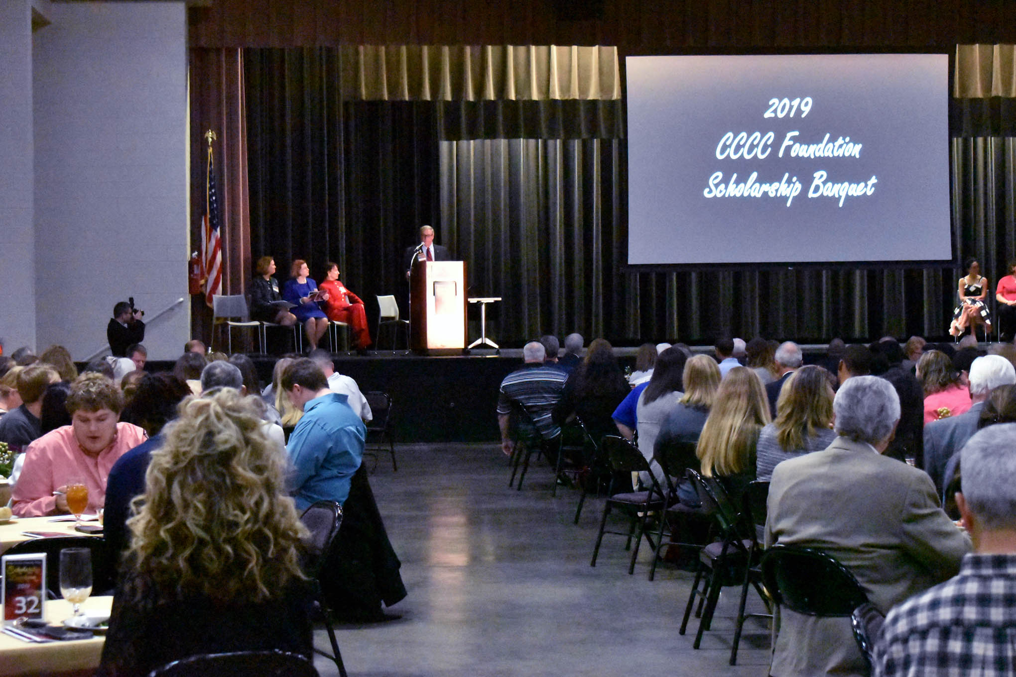 Click to enlarge,  Donors and scholarship recipients gathered for the Central Carolina Community College Foundation Scholarship Luncheon, which was held on Wednesday, Nov. 20, at the Dennis A. Wicker Civic & Conference Center.