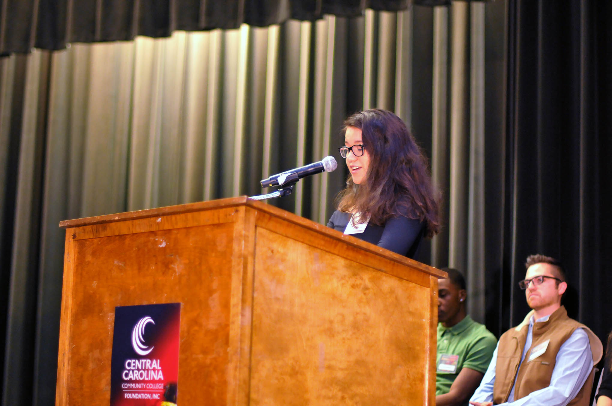 Click to enlarge,  Jacqueline Aguirre-Delgado was among the scholarship recipient speakers at the Central Carolina Community College Foundation Scholarship Luncheon on Wednesday, Nov. 20, at the Dennis A. Wicker Civic & Conference Center.
