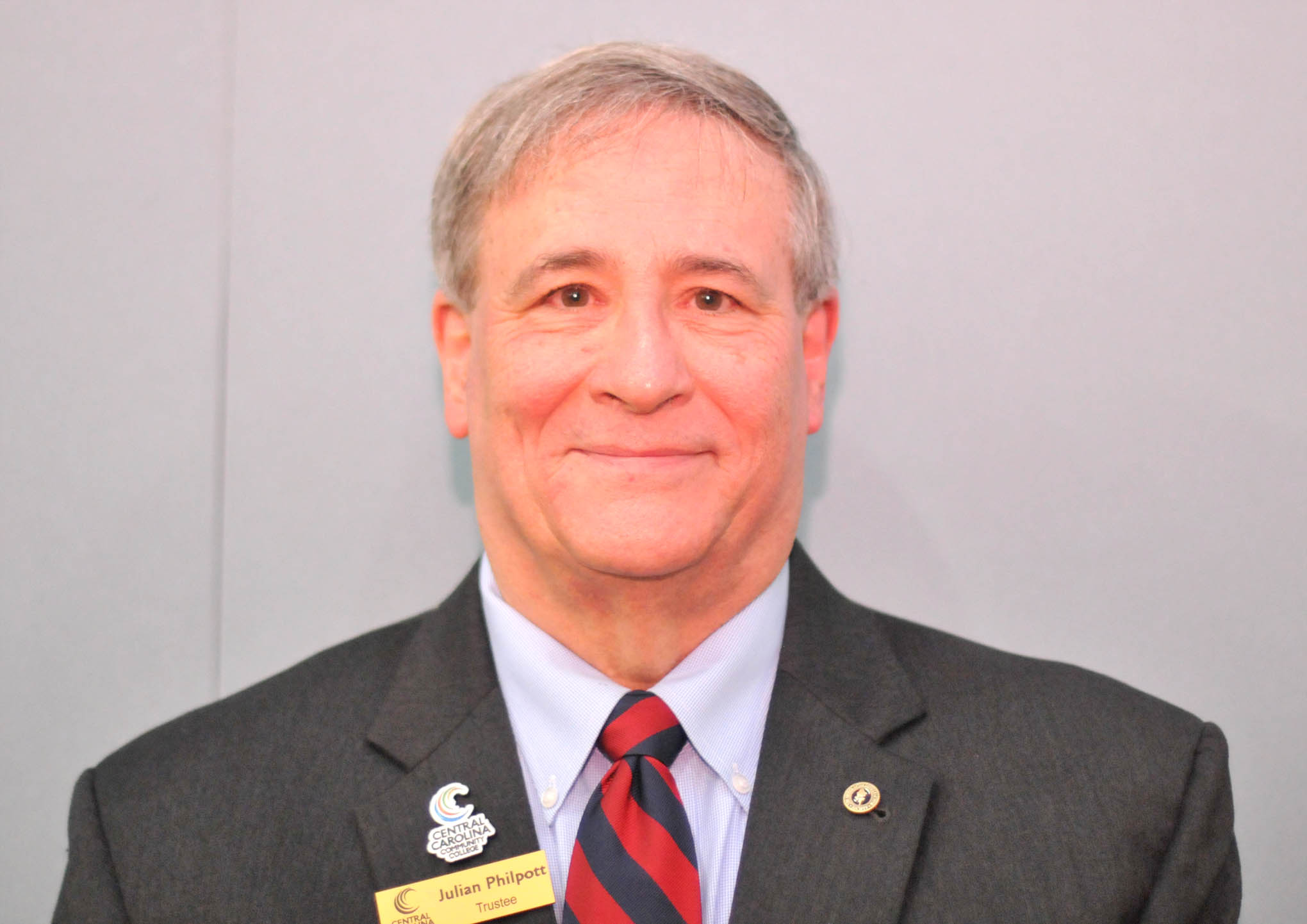 Click to enlarge,  Julian Philpott, Chairman of the Central Carolina Community College (CCCC) Board of Trustees, has been elected to the Executive Board of the North Carolina Association of Community College Trustees (NCACCT).