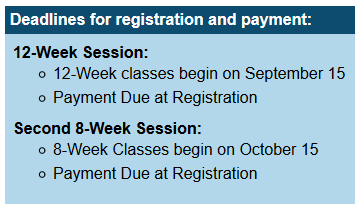 Read the full story, CCCC 12-week classes begin Sept. 15