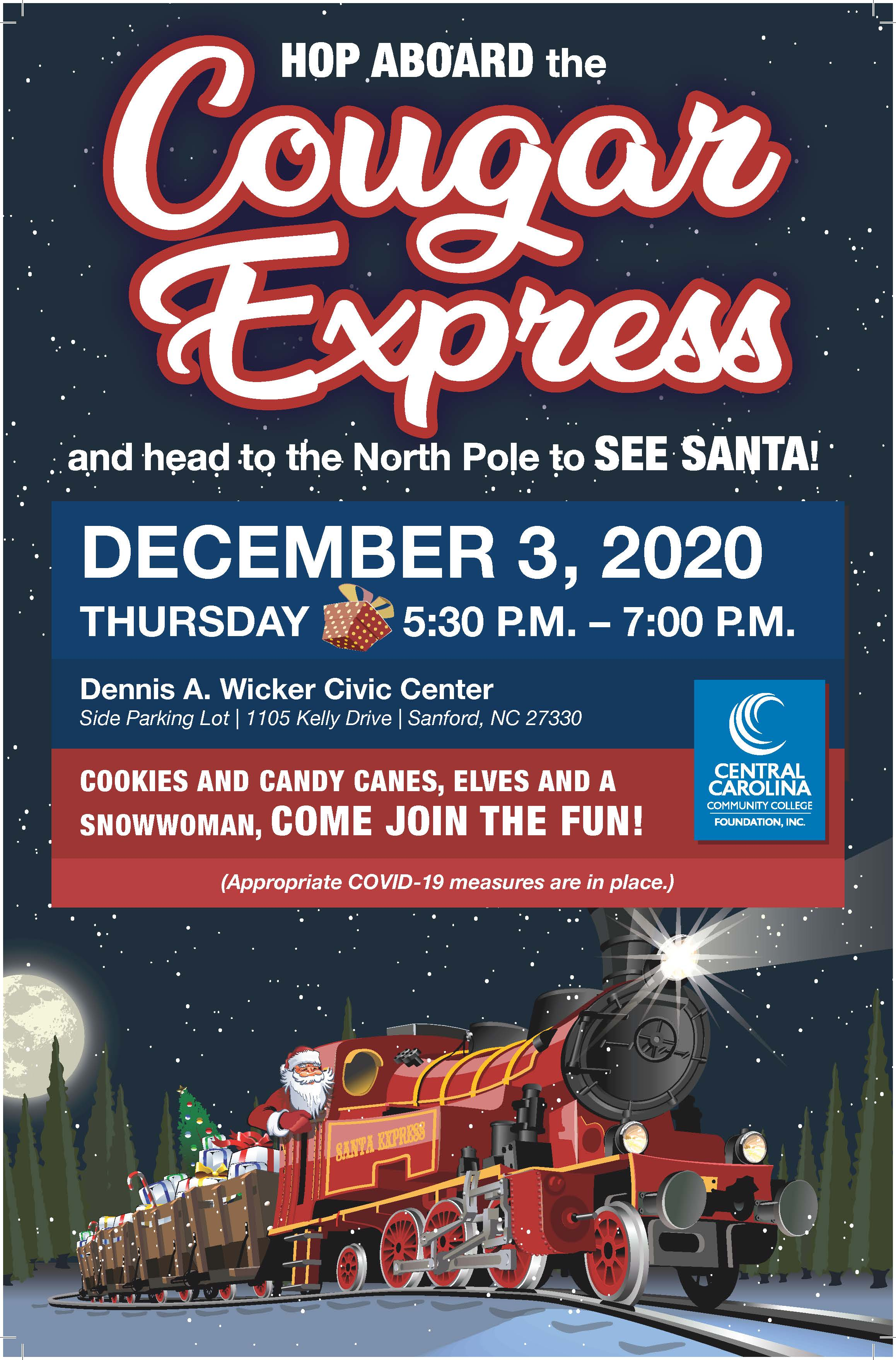 Read the full story, Cougar Express holiday drive-thru event set for Dec. 3