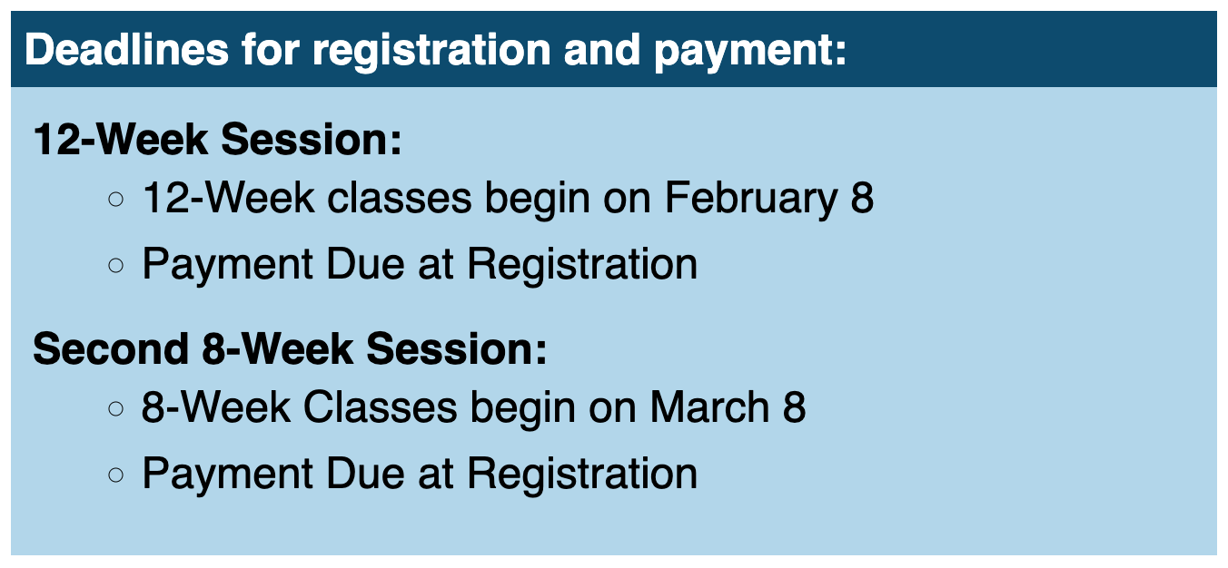 Read the full story, CCCC 12-week classes begin Feb. 8