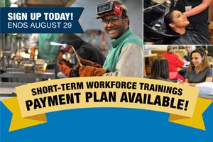 Short-Term Workforce Trainings Payment Plan Available
